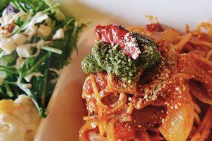 自家製トマトバジルパスタ&サラダset