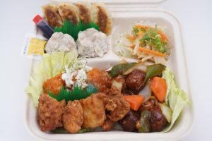 夜食べ小松島中華ボックス(2人前入:焼売・餃子・エビチリ・からあげ・肉団子)