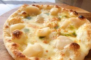 桃とモッツアレラのはちみつピザ